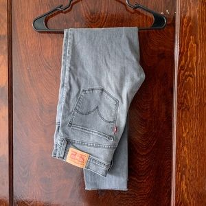 Levi High Waisted Grey Jeans